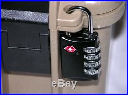 Tan Armourcase Waterproof 1450 case include precut 9 pistol handgun foam case