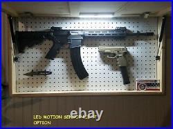 Thin Red Line American Flag Gun Concealment Cabinet Secret Hidden Storage Case