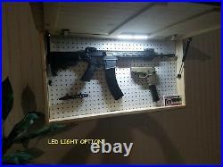 United States USA Flag Gun Concealment Cabinet Secret Hidden Storage Rack Case