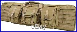 VISM Double Carbine Case 46 Dual Rifle Range Bag Shooting Hunting Tactical TAN