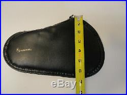 Vintage BROWNING Black Leather Hand Gun Rug Soft Case Pouch ZB7-18