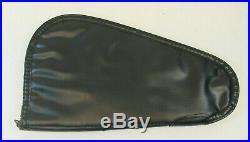 Vintage Browning Black Leather Hand Gun Pistol Soft Case Red Lined