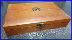 Vintage Colt Cedar Dualing Pistol Gun Presentation Red Velvet & Satin Lined Box