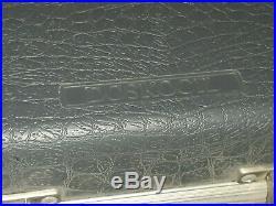 Vintage Doskocil Gray Hard shell Sided Hand Gun pistol Case Padded ANTIQUE OLD