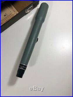 Vintage Gun-Ho Shooting Range Box 4 Gun Pistol Case with Scope, Holder & Tray