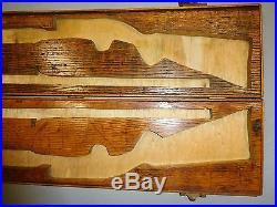 Vintage Hand Crafted Wooden Gun Case 36 1/2 x 9 x 2 1/4 (NO CONTENTS)
