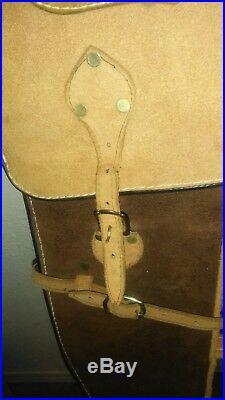 Vintage Hand Made Leather Rifle Shotgun Gun Case Adjustable Roughly 49