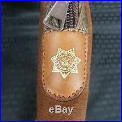 Vintage John Bianchi hand gun case 10 x 6 leather suede