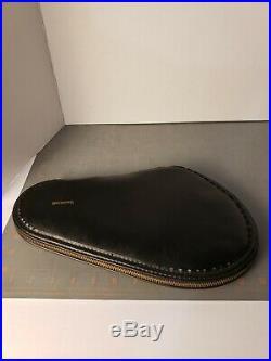 Vintage Orig Browning Handgun Pistol Gun Soft Case Black Leather Fleece Lined