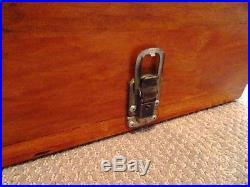 Vintage PISTOL gun CARRYING CASE WOODEN with ear muffs PACHMAYR 1950s GUN RANGE