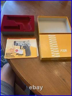 Vintage W. German Sig Sauer P226 Box / W Manual / test target Circa 1989