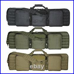 Voodoo Tactical Men's 42 Deluxe Padded Weapons Case with Locking Zipper Pockets