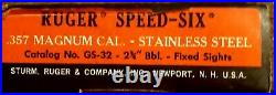 Vtg Ruger Security Six 2 3/4 Heavy Bbl. 357 Magnum Revolver Gun BOX GS-32 1978