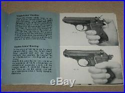 Walther Firearms PPK Pistol Box 1960's German Alligator Case Manual Brass Rod