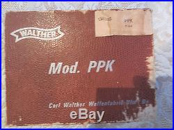 Walther Model PPK 9mm gun box