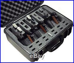 Waterproof 6 Pistol Case With Silica Gel 12 Magazine Storage Foam Insert USA