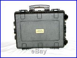 Wheeled Armourcase Waterproof 1610 case + precut 15 Pistol case foam +nameplate