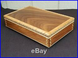 Wood (Walnut and Maple) Presentation Box/Case for Beretta 92, Taurus PT 92AFS
