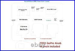 Yellow Pelican 1400 Professional 3 cam GoPro Hero8 7 6 5 4 3+ 3case +nameplate